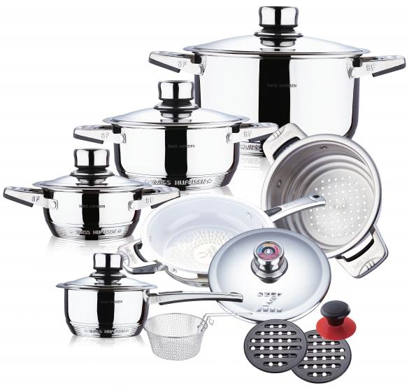 16 pcs mushroom edge S/S cookware set 2