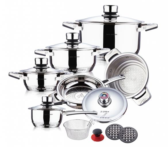 16 pcs mushroom edge S/S cookware set 3